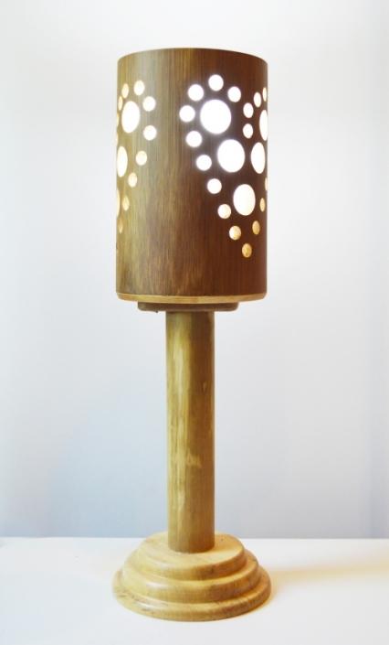 Bamboo Village Uganda handmade and ecofriendly bamboo lamp Moyo