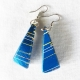 ABIM Bamboo Earrings blue