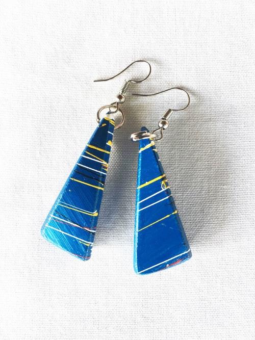 ABIM Bamboo Earrings blue