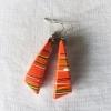 ABIM Bamboo Earrings orange