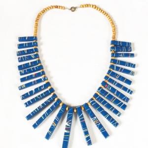 ADJUMANI Bamboo Necklace Blue