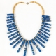 ADJUMANI Bamboo Necklace Blue