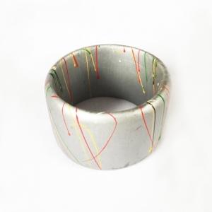 KYEGEGWA Bamboo Bangle Bracelet - Silver